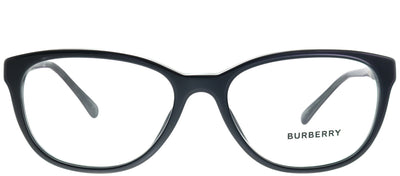 Burberry BE 2172 3001 Round Plastic Black Eyeglasses with Demo Lens