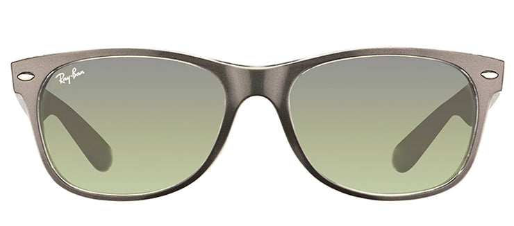Ray-Ban RB 2132 614371 Wayfarer Plastic Ruthenium/ Gunmetal Sunglasses with Grey Gradient Lens