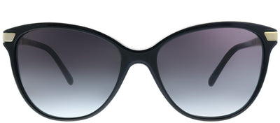 Burberry BE 4216 30018G Cat-Eye Plastic Black Sunglasses with Grey Gradient Lens