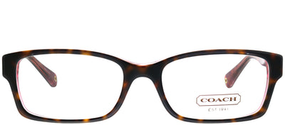 Coach Brooklyn HC 6040 5115 Rectangle Plastic Tortoise/ Havana Eyeglasses with Demo Lens