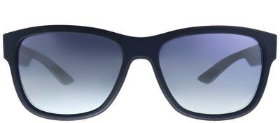 Prada Linea Rossa PS 03QS UR73A0 Rectangle Plastic Blue Sunglasses with Blue Gradient Lens