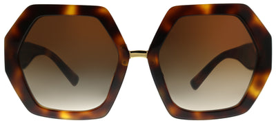 Valentino VA 4053 501113 Oversized Plastic Tortoise/ Havana Sunglasses with Brown Gradient Lens