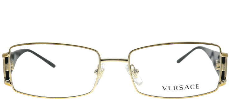 Versace VE 1163M 1252 Rectangle Metal Gold Eyeglasses with Demo Lens