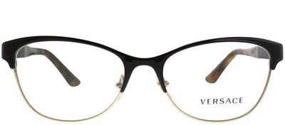 Versace VE 1233Q 1344 Cat-eye Metal Brown Eyeglasses with Demo Lens