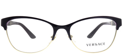 Versace VE 1233Q 1418 Cat-eye Metal Burgundy/ Red Eyeglasses with Demo Lens