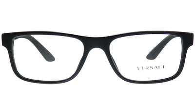 Versace VE 3211 GB1 Rectangle Plastic Black Eyeglasses with Demo Lens