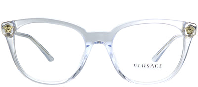 Versace VE 3242A 148 Round Plastic Clear Eyeglasses with Demo Lens