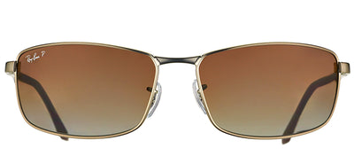 Ray-Ban RB 3498 029/T5 Sport Metal Ruthenium/ Gunmetal Sunglasses with Brown Gradient Polarized Lens