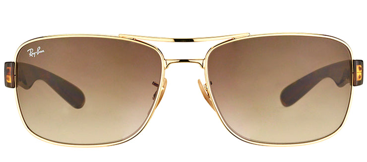 Ray-Ban RB 3522 001/13 Aviator Metal Gold Sunglasses with Brown Gradient Lens