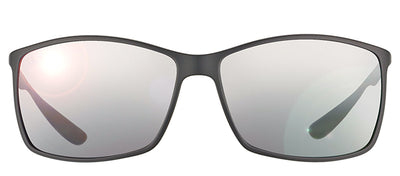 Ray-Ban Lightweight RB 4179 601S82 Square Plastic Black Sunglasses with Silver Polarized Lens