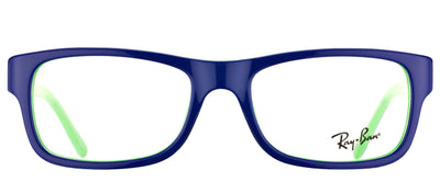 Ray-Ban RX 5268 5182 Rectangle Plastic Blue Eyeglasses with Demo Lens