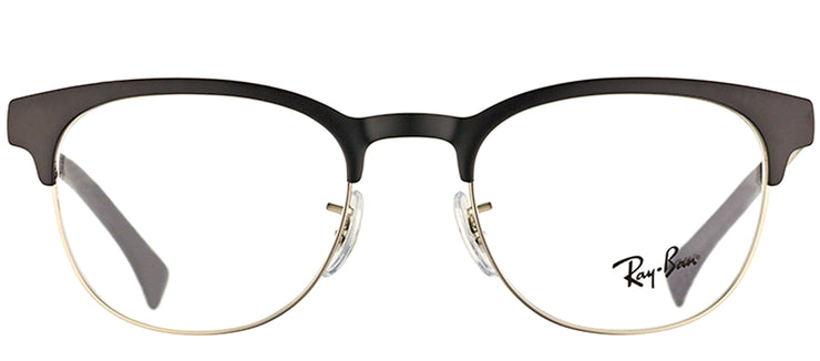 Ray-Ban RX 6317 2832 Clubmaster Metal Black Eyeglasses with Demo Lens