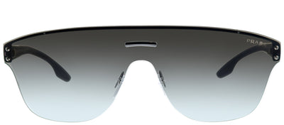 Prada PS 57TS 0A70A7 Square Metal Ruthenium/ Gunmetal Sunglasses with Grey Gradient Lens