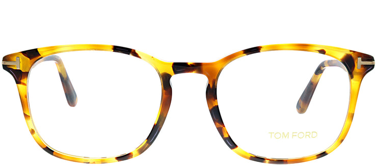 Tom Ford FT 5505 055 Square Plastic Tortoise/ Havana Eyeglasses with Demo Lens
