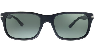 Persol PO 3048S 900058 Rectangle Plastic Black Sunglasses with Grey Polarized Lens