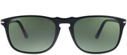 Persol PO 3059S 95/31 Square Plastic Black Sunglasses with Green Lens