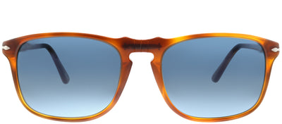 Persol PO 3059S 96/S3 Square Plastic Brown Sunglasses with Blue Gradient Polarized Lens