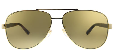 Gucci GG 0528S 008 Pilot Metal Gold Sunglasses with Brown Lens