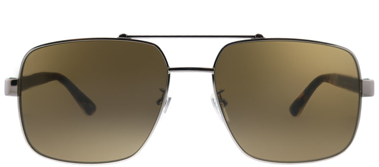 Gucci GG 0529S 002 Aviator Metal Silver Sunglasses with Brown Lens