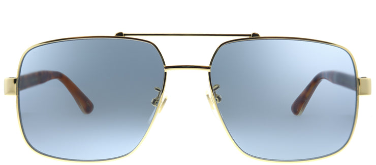 Gucci GG 0529S 004 Aviator Metal Gold Sunglasses with Grey Lens