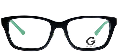 G by Guess GU 100 BLKGN Rectangle Plastic Black Eyeglasses with Demo Lens