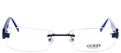 Guess GU 1630 BL Rimless Metal Blue Eyeglasses with Demo Lens