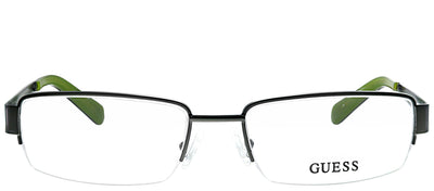 Guess GU 1767 OL Semi-Rimless Metal Green Eyeglasses with Demo Lens