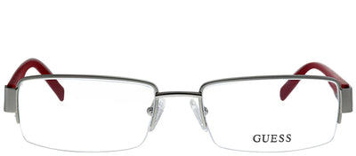 Guess GU 1774 SIRD Semi-Rimless Metal Silver Eyeglasses with Demo Lens
