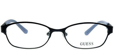 Guess GU 2353 BLK Rectangle Metal Black Eyeglasses with Demo Lens