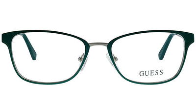Guess GU 2550 094 Rectangle Metal Green Eyeglasses with Demo Lens