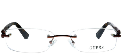 Guess GU 2557 049 Rimless Metal Brown Eyeglasses with Demo Lens