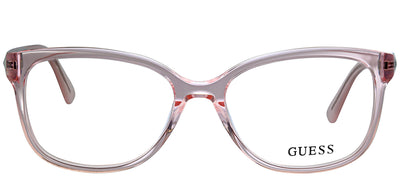 Guess GU 2560 072 Square Plastic Pink Eyeglasses with Demo Lens