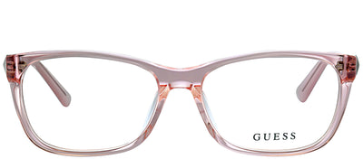 Guess GU 2561 072 Rectangle Plastic Pink Eyeglasses with Demo Lens