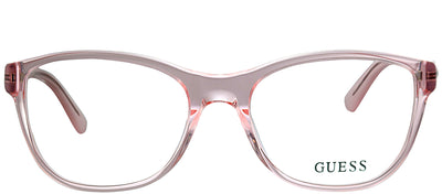 Guess GU 2562 072 Square Plastic Pink Eyeglasses with Demo Lens