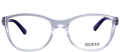 Guess GU 2562 078 Square Plastic Purple Eyeglasses with Demo Lens