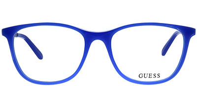 Guess GU 2566 084 Square Plastic Blue Eyeglasses with Demo Lens