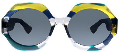 Dior DiorSpirit1 WEZ Geometric Plastic Multicolor Sunglasses with Grey Lens