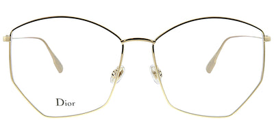 Dior StellaireO 4 J5G Oval Metal Gold Eyeglasses with Demo Lens