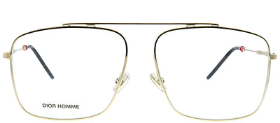 Dior Homme Dior 0220 J5G Aviator Metal Gold Eyeglasses with Demo Lens