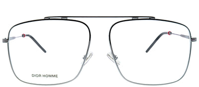 Dior Homme Dior 0220 KJ1 Aviator Metal Ruthenium/ Gunmetal Eyeglasses with Demo Lens