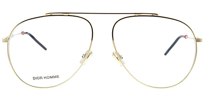 Dior Homme Dior 0221 J5G Aviator Metal Gold Eyeglasses with Demo Lens