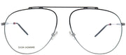 Dior Homme Dior 0221 KJ1 Aviator Metal Ruthenium/ Gunmetal Eyeglasses with Demo Lens