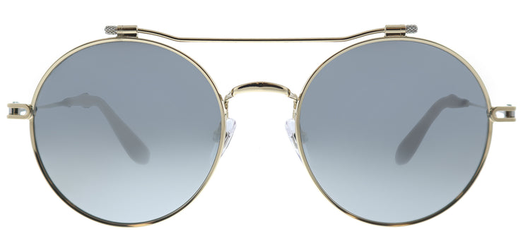 Givenchy GV 7079 NIP Round Metal Gold Sunglasses with Silver Mirror Lens