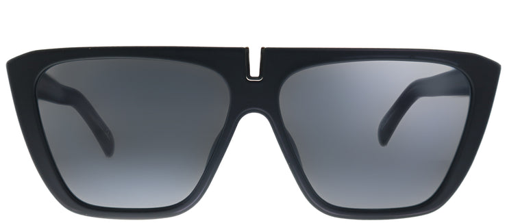 Givenchy GV 7109 003 Square Plastic Black Sunglasses with Grey Lens
