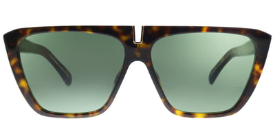 Givenchy GV 7109 086 Square Plastic Tortoise/ Havana Sunglasses with Green Lens