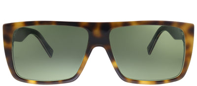 Marc Jacobs Marc Icon 096 2S0 Square Plastic Tortoise/ Havana Sunglasses with Green Lens