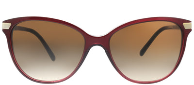 Burberry BE 4216 301413 Cat-Eye Plastic Burgundy/ Red Sunglasses with Brown Gradient Lens