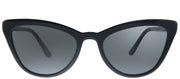 Prada PR 01VS 1AB5S0 Cat-Eye Plastic Black Sunglasses with Grey Lens