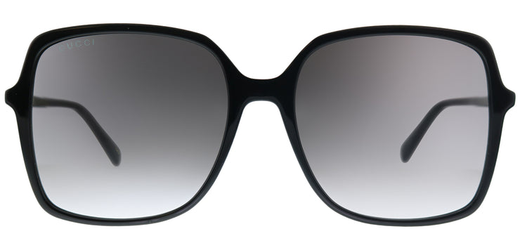 Gucci GG 0544S 001 Square Plastic Black Sunglasses with Grey Gradient Lens