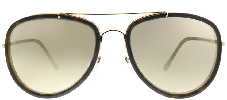 Burberry BE 3090Q 10525A Aviator Metal Gold Sunglasses with Dark Gold Mirror Lens